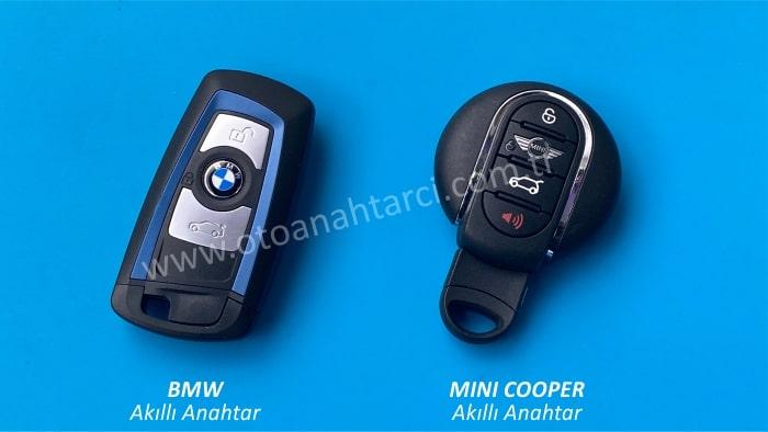 bmw mini coopelr smart anahtar akıllı anahtar