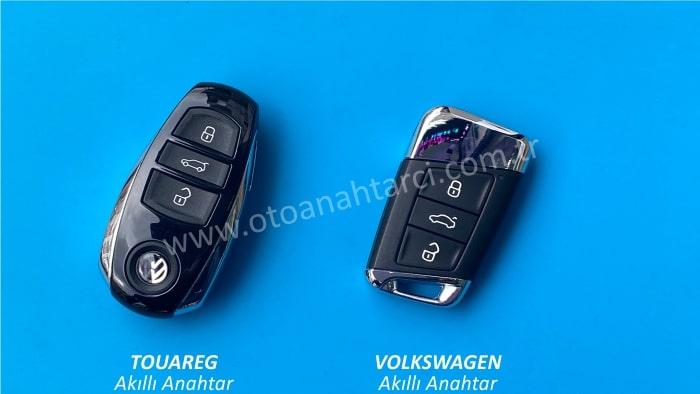 volkswagen vw passat touareg akıllı anahtar smart anahtar