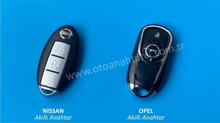 nissan opel akıllı anahtar smart anahtar
