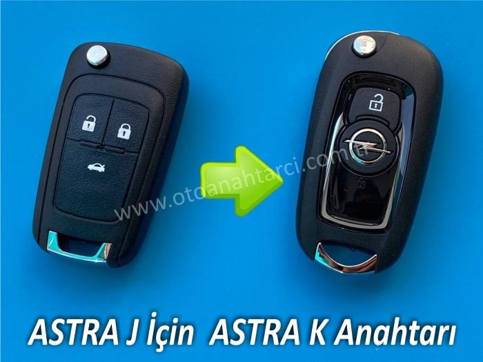 Astra J için Astra K Anahtar Yapımı