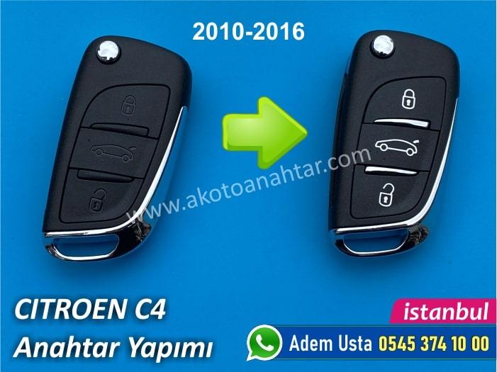 Citroen C4 Anahtarı 2010-2016