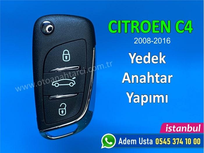 Citroen C4 Anahtar Yapımı   Yedek Kopyalama - Oto Anahtarcı İstanbul