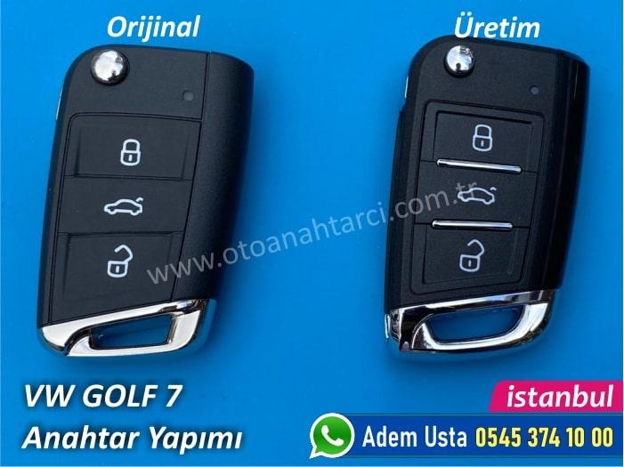 Golf 7 Yedek Anahtar Fiyatı