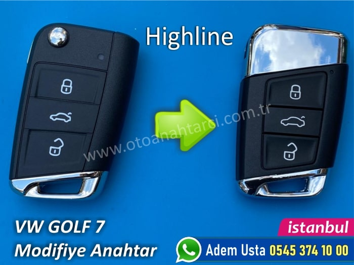 Golf 7 Keyless Go Anahtar Yapımı