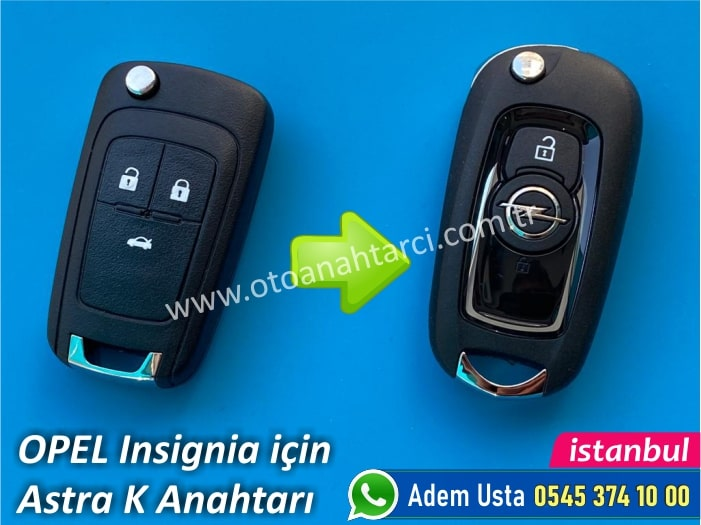 Opel Insignia Anahtar Astra K Model