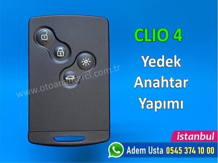 Clio 4 kart yedek anahtar yapımı