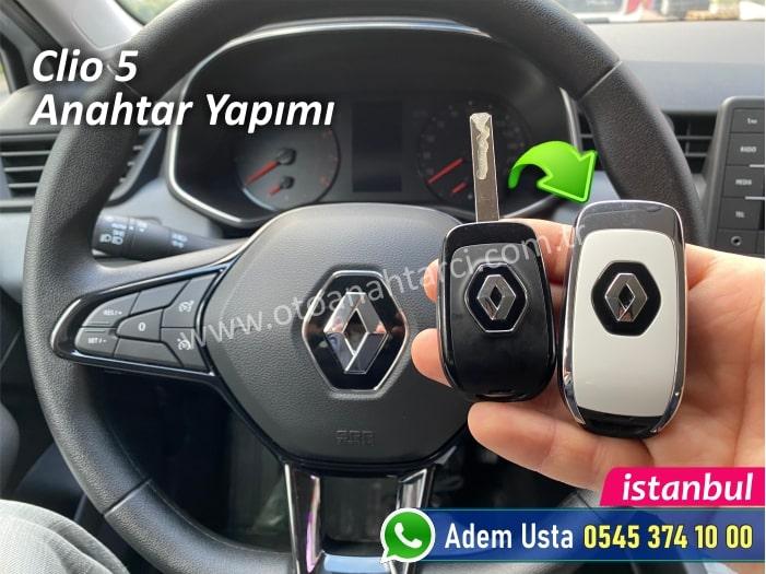 Renault Clio 5 Yedek Anahtar Yaptırma