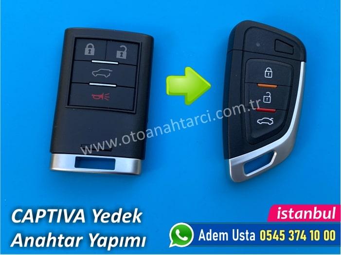 Chevrolet Captiva Keyless Go (Smart) Anahtar