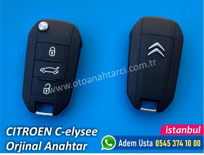 Citroen C-elysee Yedek Anahtar Fiyatı