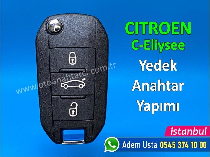 Citroen C-Elysee Anahtar Yapımı