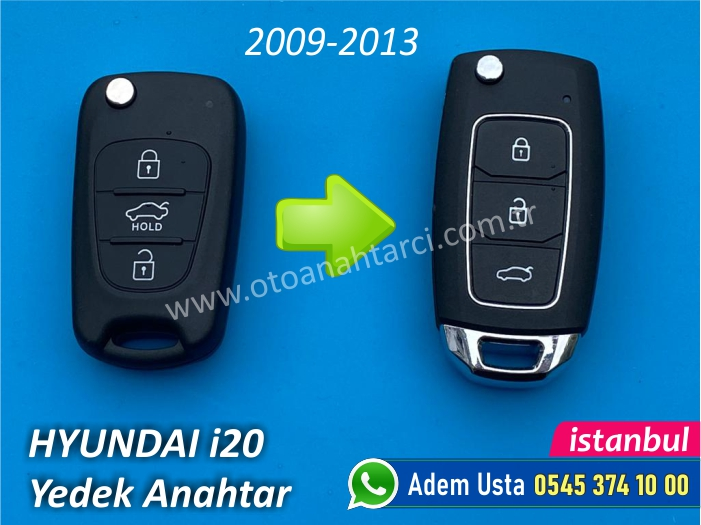 Hyundai i20 Anahtarı (2009-2013)