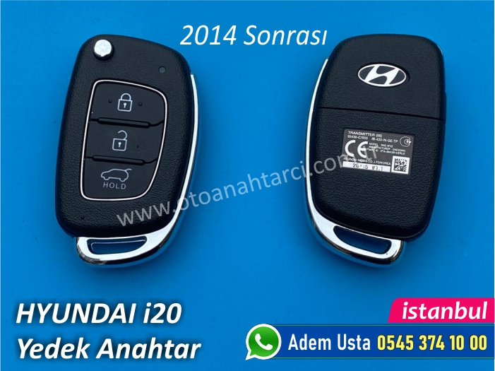 Hyundai i20 Anahtarı (2014 Sonrası)