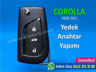 Toyota Corolla Touch, Active, Advance, Life, Premium, Vision Anahtarı