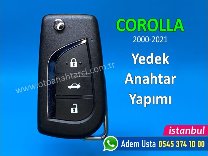 Toyota Corolla Anahtar Yapımı