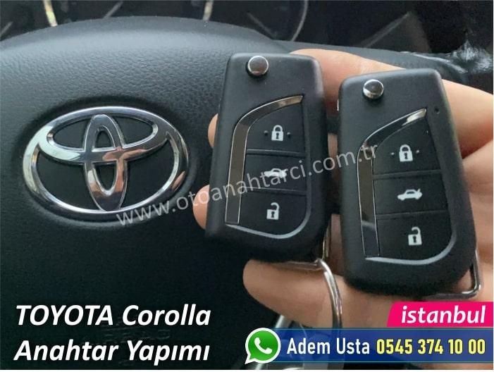 Toyota Corolla Yedek Anahtar Yaptırma