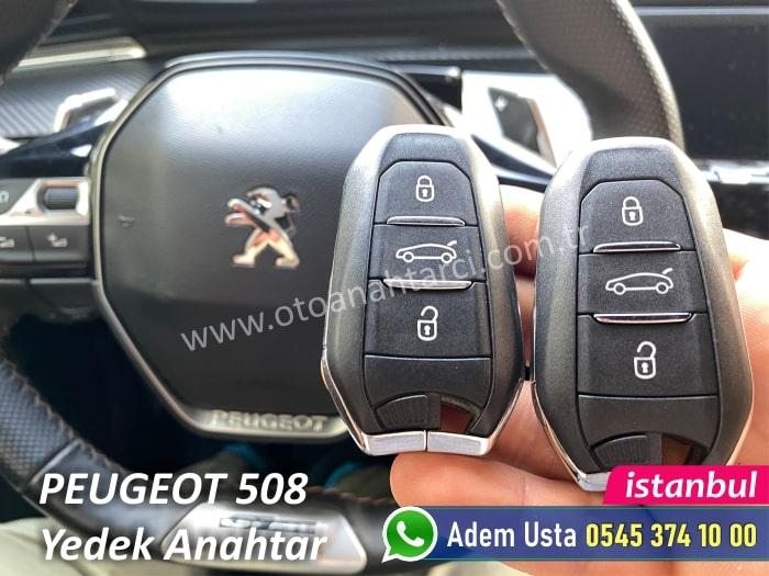 Peugeot 508 Anahtar Kopyalama ve Çoğaltma ve Çoğaltma