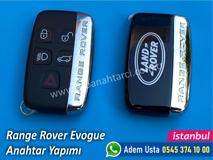 Range Rover Evogue Yedek Anahtar Fiyatı