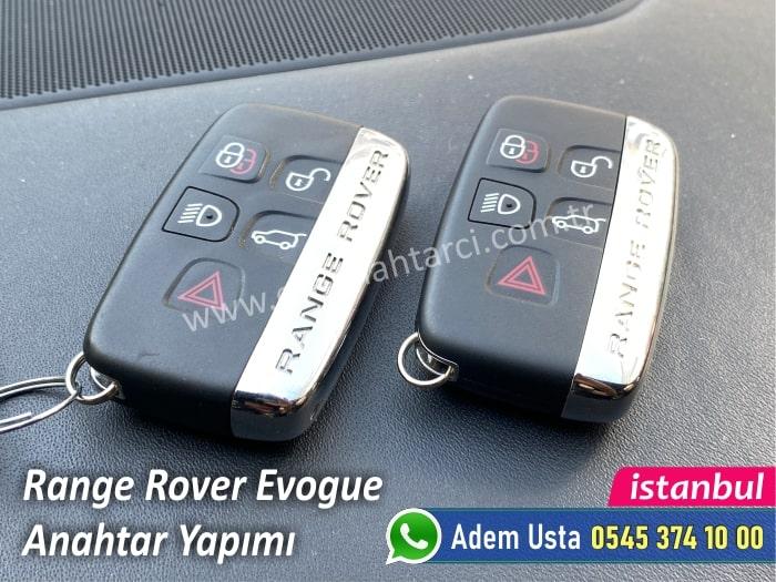 Range Rover Evogue Anahtar Kopyalama
